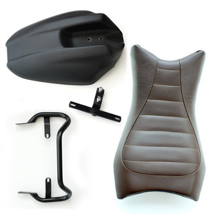 Unit Garage Monoposto Seat +Grip+ Rear Fender RnineT - Brown Leather