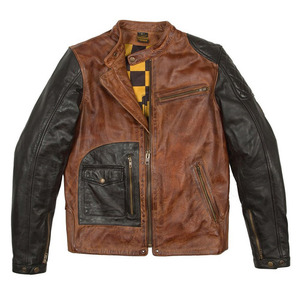 Fuel x Helstons Dirt Track Leather Jacket - 2 Tones