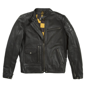 Fuel X Helstons Dirt Track Leather Jacket - Black