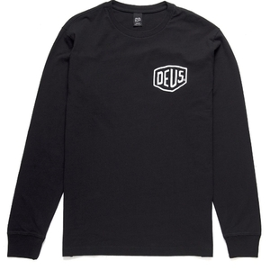 DEUS EX MACHINA<br>LS Camperdown Black Tee