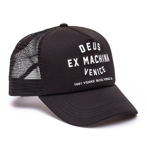 DEUS EX MACHINA<br>VENICE ADDRESS TRUCKER BLACK