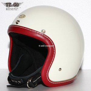 [티티앤코]TT&CO Super Magnum<br>Leather Rim Shot Vintage Red - Ivory
