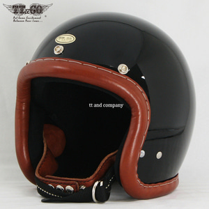 TT&CO Super Magnum Vintage Leather Trim Brown Leather Black