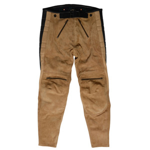 El Solitario Rascal Leather Pants Beige