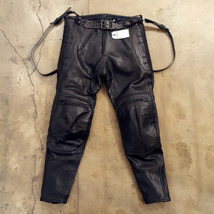 [엘솔리타리오] El Solitario<br>Rascal Leather Pants Black [한정판]