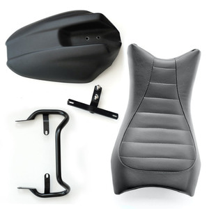 Unit Garage Monoposto Seat +Grip+ Rear Fender RnineT - Black Leather