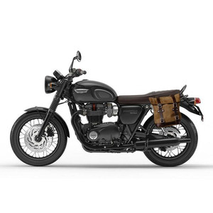 Unit Garage<br>Waxed Suede Side Pannier+Subframe<br>Triumph T100-T120