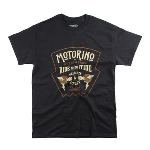 [모토리노] Motorino Shield Tee<br>Black