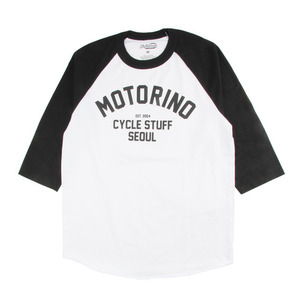 [모토리노] Motorino Cycle Stuff Raglan White / Black
