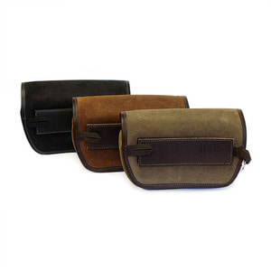 [유닛개러지] Unit Garage<br>Sahara Handlebar Bag Leather split<br>핸들바 백