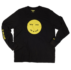 [엘솔리타리오]El Solitario<br>Smiley Black Long Sleeve T-Shirt