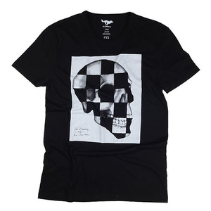 [엘솔리타리오]El Solitario<br>Checker Skull T-Shirt