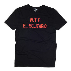 [엘솔리타리오]El Solitario<br>WTF Black / Red T-Shirt