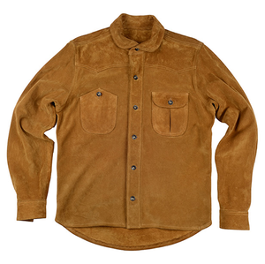 [엘솔리타리오] El Solitario<br> Vandal Suede Overshirt Brown