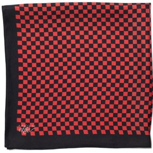 Cafe Racer Silk Scarf - Black and Red