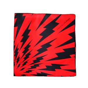 Blitz Bolt Silk Scarf - Black and Red